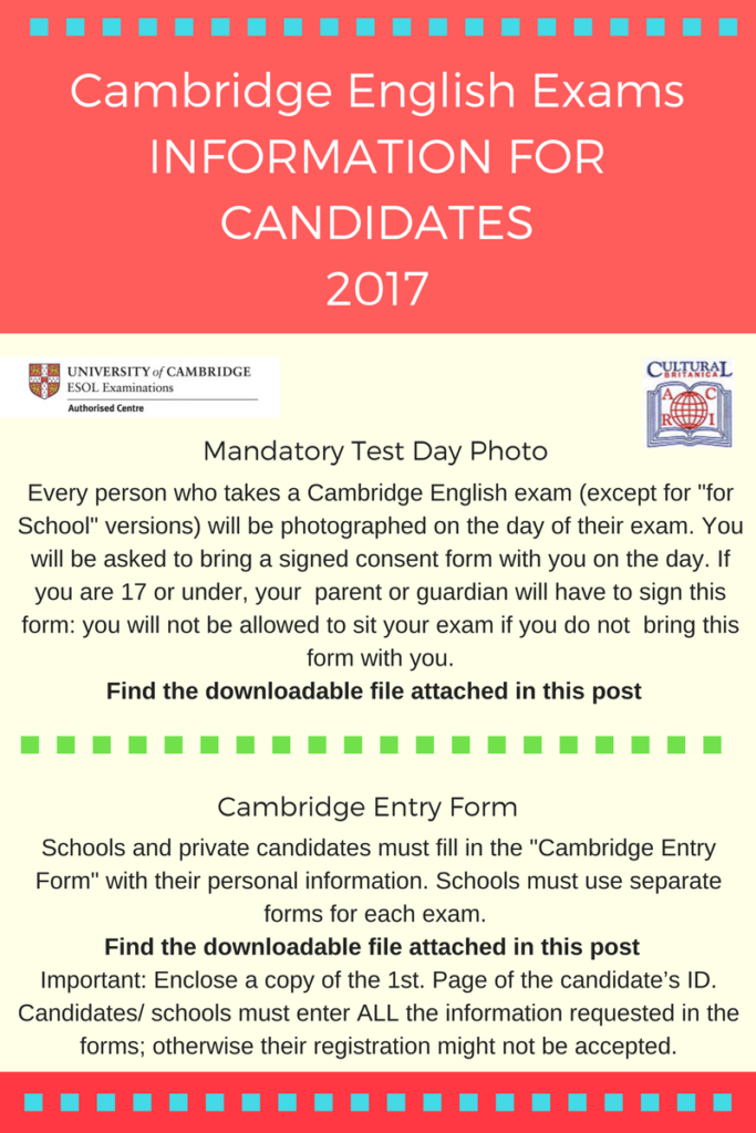 Information for candidates entry form and photo permission (1)